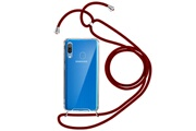 FORCELL Coque samsung galaxy a30 cordon nylon tressé collier / bandoulière forcell rouge
