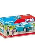 PLAYMOBIL Playmobil 70285 - papa avec enfant et voiture cabriolet
