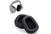 Homtechfrance Écouteurs bluetooth-2 pcs pour coussin logitech g633 g933 ecouteur couverture earmuffs remplacement oreillettes avec mesh (cuir)