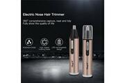 Ckeyin Tondeuse nez cheveux oreilles rechargeable portable sans douleur rasoir de poils lame rotative à 360 °