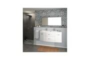AUCUNE Pacome salle de bain complete simple vasque l 120 cm - blanc