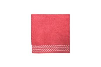 Serviette de bain 100 % coton pat - 68 x 140 cm - corail