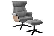 Altobuy Obanos - fauteuil inclinable + repose-pieds gris