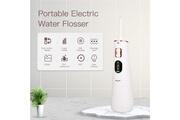 Ckeyin Hydropulseur sans fil portatif dentaire avec 2 buses jet rechargeables irrigator oral 330ml réservoir d'eau