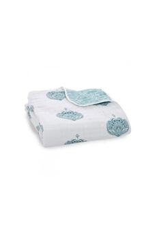 Aden and anais - aden + anais couverture de rêve - dream blanket paisley - teal