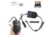 AUCUNE Adaptateur de chargeur de voiture universel pour ordinateur portable 80w 12v pour dell hp toshiba sony acer noir