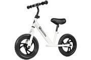 Hypermotion Draisienne vélo sans pédales 12 pouces pour enfant de 2 à 5 ans (30 kg) roues en mousse, hauteur selle & guidon réglables (blanc)