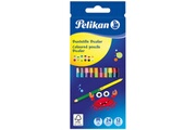 Pelikan Pelikan pelikan crayons de couleur bicolor, rond, étui en carton de noir