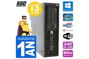 Hp Pc hp workstation z210 sff intel core i3-2100 ram 8go ssd 240go windows 10 wifi