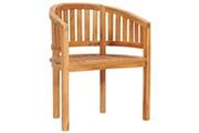 Vidaxl Chaise en forme de banane bois de teck solide