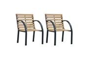 Vidaxl Chaises de jardin 2 pcs bois