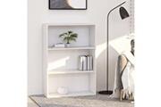 Vidaxl Bibliothèque à 3 niveaux blanc 80x30x114 cm aggloméré