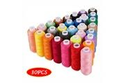 Generic Fils à coudre 30 couleurs polyester 250 verges par bobine pour la couture à la main et à la machine produits de couture ménagers 40