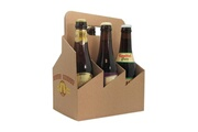 Icaverne Porte-bouteille - systeme versage du vin classwine porte bouteille en carton pour 6 bieres