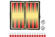 Promobo Set mini jeux de société backgammon enfant jouet de voyage
