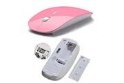 Shot Case Souris ultra plate pour mac et pc sans fil usb universelle capteur optique 3 boutons couleurs (rose)