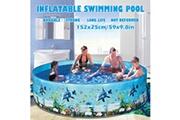AUCUNE 59inches piscine pour enfants blow up pool pour les enfants de la famille cour arrière pliable