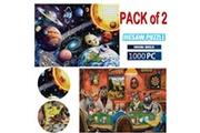 AUCUNE Adultes enfants puzzles 2 - chaque 1000pcs grand puzzle game toys cadeau personnalisé multicolore