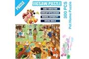 AUCUNE Science cartoon pet home puzzle 300 pièces éducatif puzzle game toys multicolore