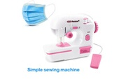 AUCUNE Machine à coudre électrique de bureau de taille moyenne pour la fabrication de masque rose