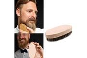 Generic Hommes sanglier cheveux poils barbe moustache brosse militaire dur rond manche en bois peigne bt913