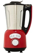 Senya Blender chauffant inox cook and ice v3 mixeur soupe blender a smoothie rouge 1,5l 1400w, sycp-hb008r
