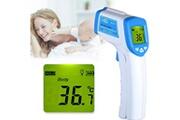 AUCUNE Thermomètre frontal thermomètre numérique temporel infrarouge pour le corps blanc