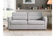 Lisa Design Austin - canapé 3 places convertible - ouverture express - couchage quotidien couleur - gris clair