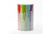 Maisonetstyles Mange-debout tonneau 60x90 cm en métal blanc et multicolore
