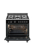 Smeg ESTHETIQUE CLASSICA 90cm MIXTE NOIR - SCB91MCN9 photo 2