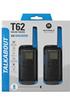 Motorola TALKIE MOTOROLA T62 BLEU PACK 2 photo 5