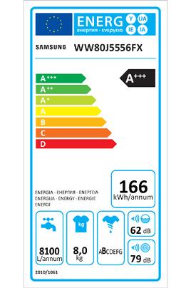 Samsung WW80J5556FX/EF ECOBUBBLE