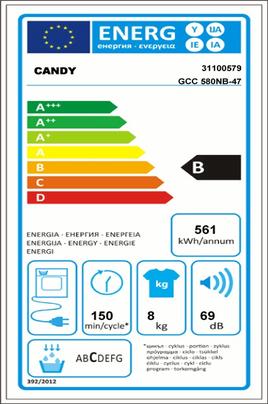 Candy GCC580NB
