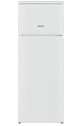 Le réfrigérateur-congélateur en haut WESTLINE DDW213WH dispose dun volume de 171 litres pour la partie réfrigérateur et 42 litres pour la partie congélateur. Réfrigérateur. Réfrigérateur à froid statique et dégivrage automatique. 3 clayettes en verre. Il
