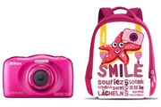 Nikon COOLPIX S33 KIT SAC A DOS ROSE