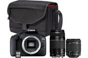 Canon EOS 2000D+EF-S 18-55 IS II+EF 75-300 f/4-5,6 III + Sac + Carte mémoire SD 16 Go