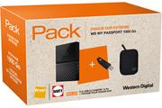 Wd PACK WD DD2.5 1TB MY PASSPORT NOIR + WD ETUI NOIR POUR DISQUE DUR 2.5
