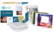 Hp Sprocket 200 Grise + 1 kit de 6 cartes + 1 planche de stickers et 1 paquet de 20 papiers photos