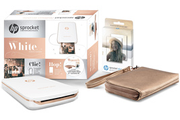 Hp Sprocket Plus Blanche + 1 paquet de 20 papiers photos + 1 pochette