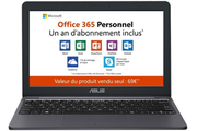 Asus E203MA-FD017TS + 1 an d'Office 365 Personnel inclus