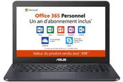 Asus E402WA-FA011TS + 1 an d'Office 365 Personnel inclus