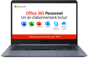 Asus E406SA-BV265TS + 1 AN D'OFFICE 365 PERSONNEL INCLUS