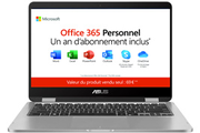 Asus TP401MA-EC115TS + 1 AN D'OFFICE 365 PERSONNEL INCLUS