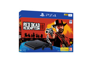 Sony PS4 SLIM 1 To E Black + Red Dead Redemption 2