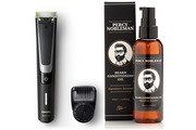 Philips ONEBLADE PRO + HUILE à BARBE PERCY NOBLEMAN