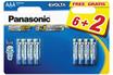 Panasonic LR03 AAA 6+2 EVOLTA