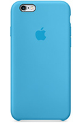 Apple COQUE DE PROTECTION EN SILICONE BLEU POUR IPHONE 6/6S