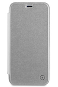 Muvit ETUI FOLIO ARGENT POUR APPLE IPHONE X