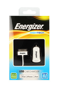 Energizer Chargeur allume-cigare HIGHTECH USB Blanc iPhone 3GS / 4 / 4S