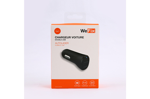 Wefix Chargeur Allume cigare x2 USB 4,8A